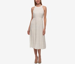 Tommy Hilfiger Women's Printed Special Dress, White