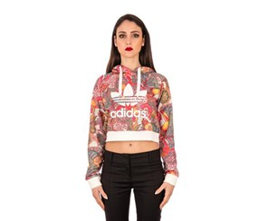 Adidas Women's Hoodies, Pink/White/Red