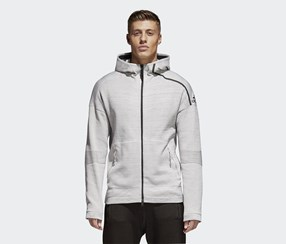 Adidas Men's Sweatshirt, Heather Grey/Black