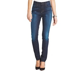 Levi's Women's High Rise Faded Skinny Jeans, Blue Denim