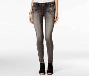Jessica Simpson Kiss Me Super-Skinny Jeans, Gray