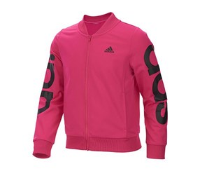 Adidas Little Girls Cropped Adi Bomber Jacket, Magenta