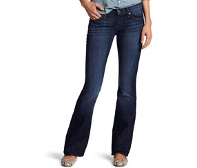 7 For All Mankind Women's Bootcut Jeans, Navy