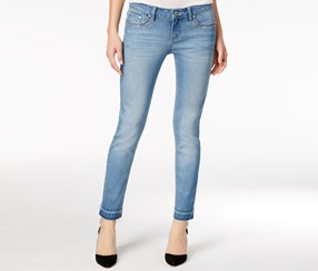 Project Indigo Juniors' Lace Bling Pocket Skinny Jeans, Blue