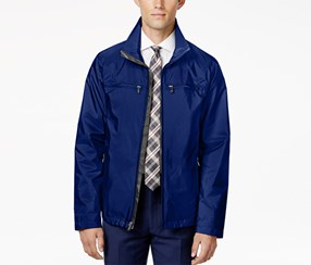Ryan Seacrest Distinction Men's Full-Zip Stand-Collar Jacket, Midnight