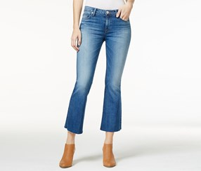 Hudson Jeans Women's Mia Cropped Carve Wash Flared Jeans, Blue