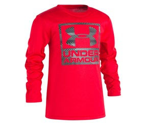 Under Armour Toddler's Boys' Long-Sleeve Performance Tee, Red