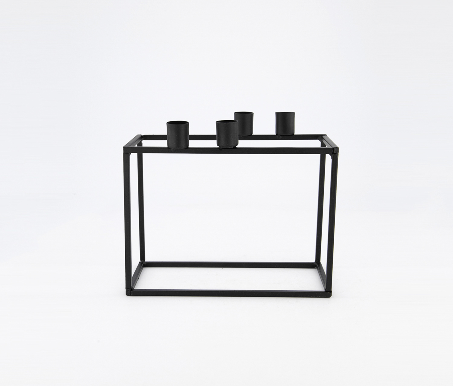 Picture of: Kj Collection Rectangle Candle Holder Black Brands For Less