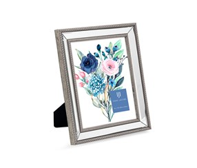 Issac Jacobs Beaded Picture Frame. Silver