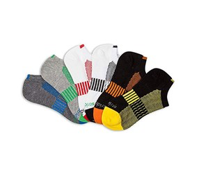 Stride Rite Little Boy's 6-Pairs Sports Bright Socks, White/Black/Gray