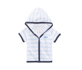 First Impressions Striped Cover Up, Bright White/Navy