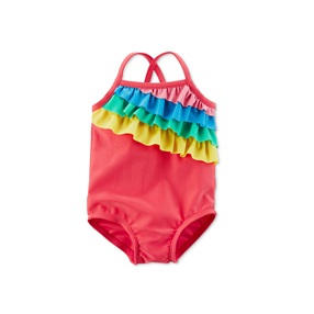 e72274ecb Carters Rainbow Ruffle Swimsuit, Red Combo