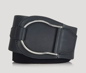 Ralph Lauren Women's Stretch Equestrian Belt, Black