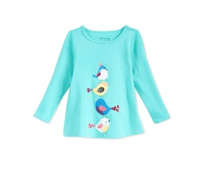 First Impressions Baby Girl's Graphic-Print Top, Aqua