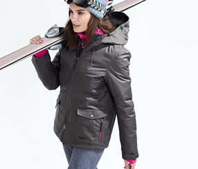 Women's Ski And Snow Board Jacket, Dark Grey