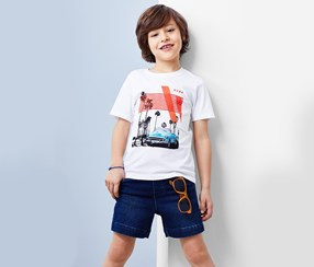 Boy's T-Shirt, White