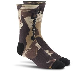 Reebok Men's Camo Training Crew Socks, Brown