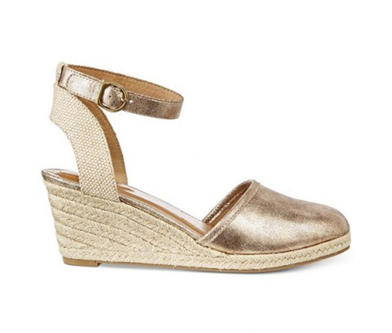66156b95ed1 Shop Style & Co Style & Co Mailena Wedge Espadrille Sandals, Gold ...