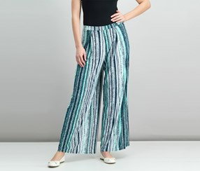 Bar III Striped Wide-Leg Pants, Cobalt Glaze Combo