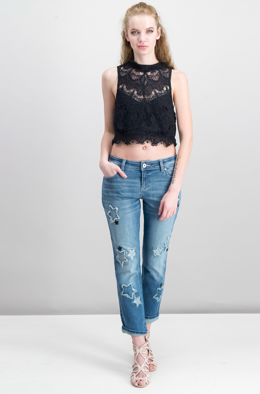 448df3576df Shop Free People Free People Sabina Ginger Lace-Applique Tops