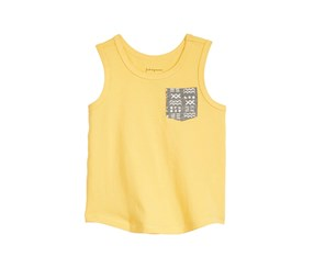First Impressions Baby Boy Printed-Pocket Cotton Tank Top, Corn Silk