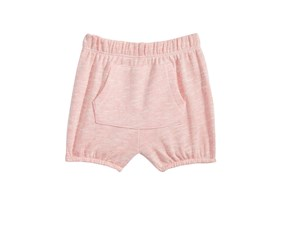 First Impressions Baby Girls Kangaroo-Pocket Bloomer Shorts, Pink Topaz