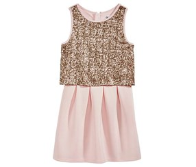 Epic Threads Girl's Popover Dress,Pink
