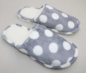 Men's Fashionable Dot Slipper, Grey
