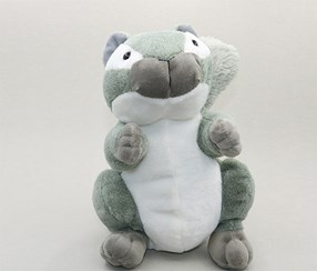 Cute Squirrel Plush Toy, Gray