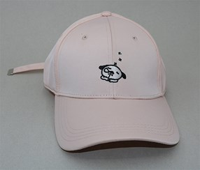 Cartoon Figures Embroidered Baseball Cap, Pink