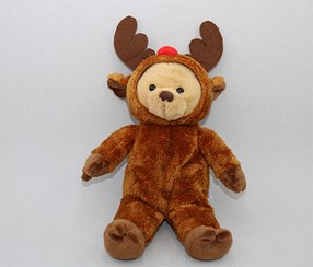 Christmas Bear Plush Toy, Brown