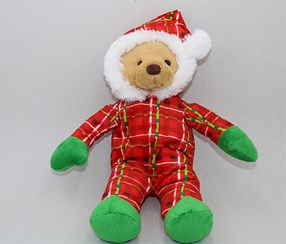 Christmas Bear Plush Toy, Red