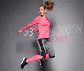 Long-Sleeved Performance Top, Pink