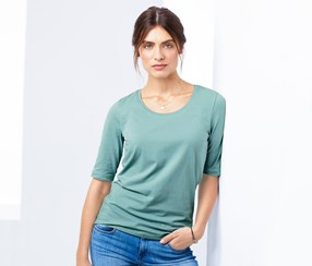 Women's Short Sleeved Top, Mint