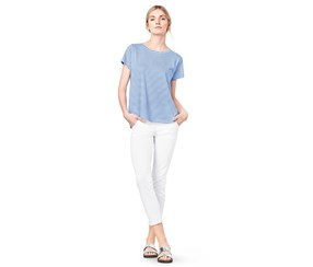 Women's Striped Top, Blue/White