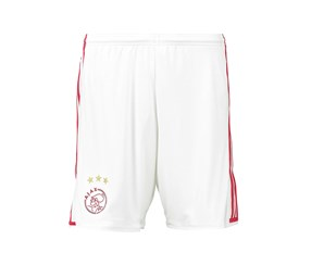 Adidas Ajax Kids Boys Replica Home Shorts, White/Bold Red