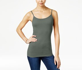 Planet Gold Women's Scoop-Neck Tank Top, Olive