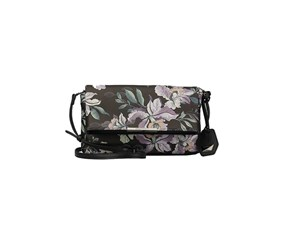 Ellen Tracy Women's  Vernon Clutch Bags, Black/Purple