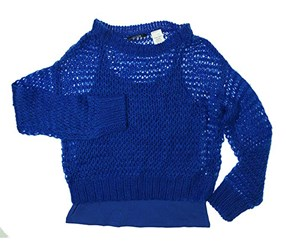 Guess Kids Big Girl Two-Fer Sweater, Blue