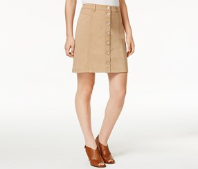 G.h. Bass & Co. Women's Button-Front Skirt, Tan