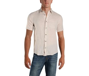 IKE By Ike Behar Mens Linen Button-Down Shirt, Cobblestone