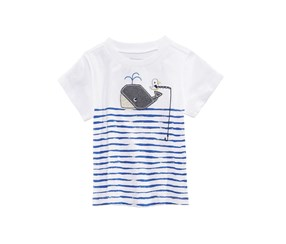 First Impressions Graphic-Print T-Shirt, Bright White