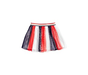 Epic Threads Striped Tulle Skirt, Red White Blue