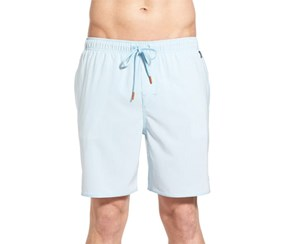 Cova Men's  'Spot' Stripe Swim Trunks, Blue