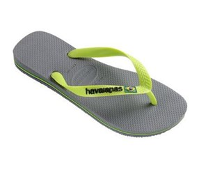 Havaianas Men's Slippers, Grey/Lime Green