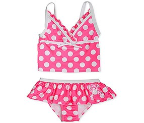 Penelope Mack Girl's 2-Pc swim wear, Pink/White