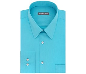 Geoffrey Beene Men's Classic Dress Shirt, Blue