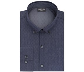 Kenneth Cole Reaction Men's Print Dress Shirt, Blue