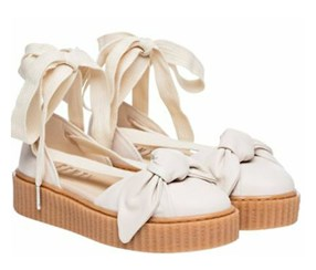 Puma Women's Fenty Bow Creeper Sandal, Off White