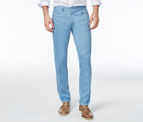 Calvin Klein Men's Slim-Fit Stretch Five-Pocket Pants, Fresh Blue